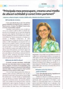 """Interviu in revista """"Diaspora"""" 1"""
